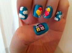 Up inspired nails, such an adorable movie. doing this someday i have hours to spend on them haha