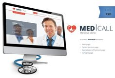 Med Call - Free Medical Clinic Website Template PSD for you to download and use in web design or graphic design, created by Ivanko666. You can download and use it free for personal project. I hope you like it and don't forget to spread the world. If you mention it somewhere else, please always link to this page instead of download link.