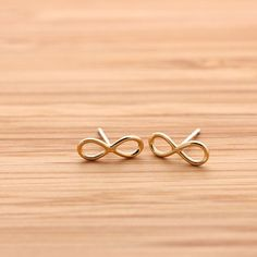 simple INFINITY stud earrings, 3 colors