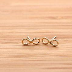simple INFINITY stud earrings, 3 colors