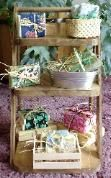 Wooden Displays for Soap Candles Bath and Body Items Spices Lip Balm Tubes Bottle Display Units