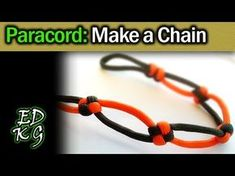 Simple Paracord: Make a Chain (with Square knot, Snake knot, etc) - YouTube