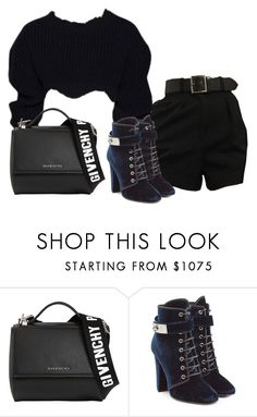 """""""Untitled #4844"""" by teastylef ❤ liked on Polyvore featuring Givenchy and Giuseppe Zanotti"""