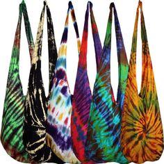 Tie Dye Bag Shoulder Purse Sling Hippie Boho Gypsy Bags Hippy Ladies