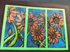 Sunflowers - chalk pastel