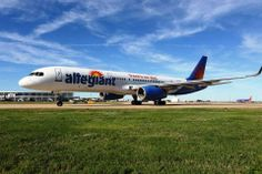 amazing shot of an #allegiant plane in #austin #texas! #photography