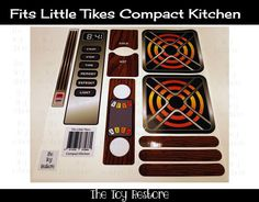 New Replacement Decals Stickers fits Vtg Compact Oven Kitchen Oven, Toy Kitchen, Kitchen Decals, Compact Kitchen, Little Tikes, Restoration, Stickers, Toys, Grandkids