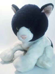cat black & white plushy stuffed animal, used in VGC  #Unbranded Plushies, Snowman, Black And White, Cats, Animals, Ebay, Gatos, Animales, Black N White