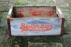 Vintage Sparco Beverage Crate Coke Wooden by MoonstruckVintageAZ