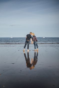 Zoe & Tom, Saundersfoot Beach Engagement - Electric Blue - Photography & Film-102