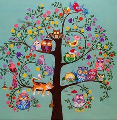 Tree Of Life Art, Tree Art, Roots Drawing, Landscape Art Quilts, Frida Art, Bicycle Painting, Handprint Art, Happy Paintings, Naive Art