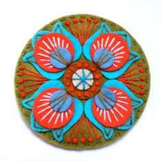 MARRAKECH FELT BROOCH  MEASUREMENT 7cm.  MATERIALS Felt Embroidery cotton Brooch pin  I pay close attention to detail and as a result, you will find my items neatly presented and well finished.  Please do not hesitate to contact me if you require any further information.