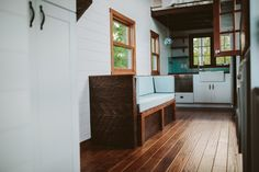 The Mayflower: a stunning, luxury tiny home, deigned and built by Wind River Tiny Homes.