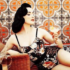 """@ditavonteese's photo: """"Flashback pic from one of many shoots I did as global brand ambassador for @Cointreau for seven years. ©Albert Sanchez"""""""