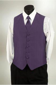 Plum Raisin vest and tie at Tuxedo Junction.