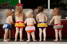 Ruffle butts!  TOO cute in ECU colors :)