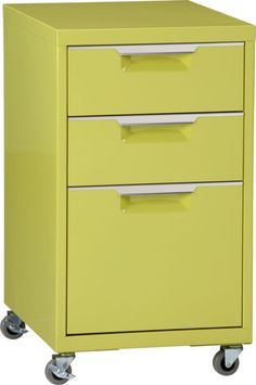 TPS chartreuse file cabinet in office furniture | CB2