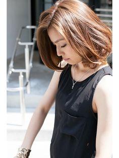 ヌーディボブ(パーソナルカラー/ワンサイド/セミウェット/ - 24時間いつでもWEB予約OK!ヘアスタイル10万点以上掲載!お気に入りの髪型、人気のヘアスタイルを探すならKirei Style[キレイスタイル]で。
