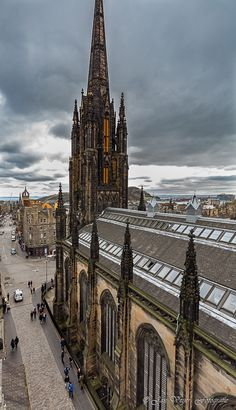 overlooking the Royal Mile