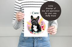 Fun Illustrations and heartwarming gifts by LadyFatCat Fun Illustration, Illustrations, Love Drawings, Dog Portraits, Etsy Seller, Cat, Creative, Gifts, Favors