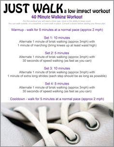 Free Printable - Low Impact Walking Workout Plan