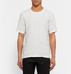 Swedish brand Our Legacy caters to gents with pared-back tastes, and nothing exemplifies the notion more than this T-shirt. Cut in a slightly boxy, regular silhouette, this wardrobe essential is crafted entirely from breathable linen, ensuring it will slot seamlessly into your month-to-month rotation. Wear it with dark trousers and sneakers.