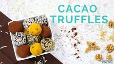 These Cacao Truffles are a guilt-free dessert that contain both veggies and fruit. Sweet and tart, they provide good fats and a boost of progesterone. Foods For Thyroid Health, Thyroid Diet, Hormone Diet, Thyroid Symptoms, Paleo Dessert, Dessert Recipes, Cacao Powder Benefits, Cacao Recipes, Truffle Recipe