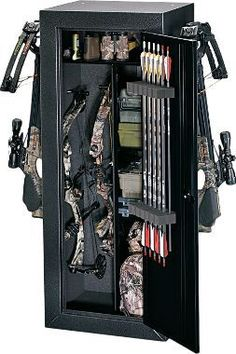 Cabela's: Stack-On Buck Commander Bow Cabinet.......this would be cool to have but it would be a lot of work moving my bow and stuff from there to my case  so I could go to practice.
