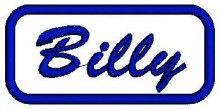 Billy Name free embroidery designs free download embroidery patterns