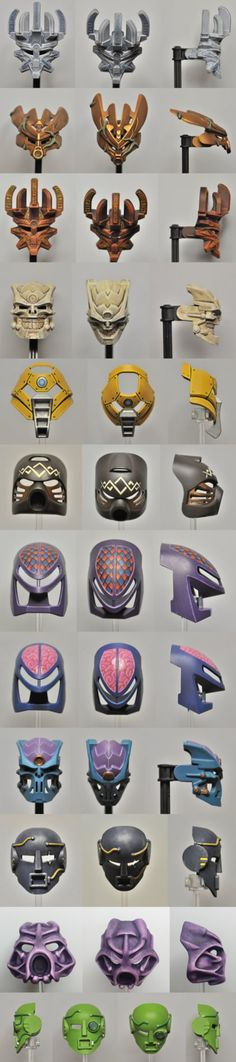 Bionicle - Kanohi masks by Dr. Cod on DeviantArt (Lego)