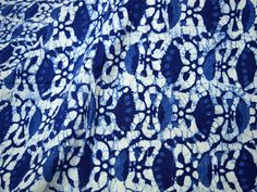 Indian Fabric Indigo Blue Cotton Fabric - Indigo Cotton Fabric by the Yard - Vegetable dyed Hand Block Printed Cotton / block print fabric British Colonial Bedroom, Indigo Plant, Indian Fabric, Indigo Blue, White Fabrics, Floral Motif, Vintage Patterns, Textile Design, Printed Cotton