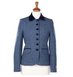 Amy Jacket - Blue – Bucktrout Tailoring