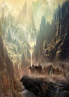 riders in the rocks - by Jan Patrik Krasny | Featured Artist on the Fantasy Gallery