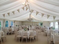 Very simple decor - White / ivory effect wedding marquee Marquee | American Marquee Hire
