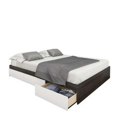 Nexera Allure Storage Sleigh Bed   AllModern