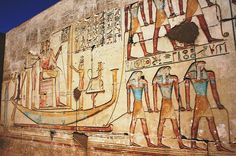 """Scene from the west wall of the chapel G (room III) of the""""Temple of Millions of…"""