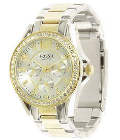 Fossil Two-Tone Boyfriend Watch