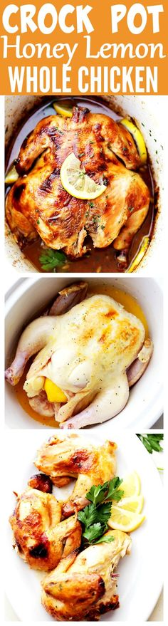 Crock Pot Honey Lemon Chicken