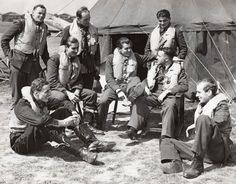 The pilots who fought in the Battle of Britain during World War II.