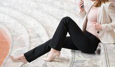Straight-Leg | Black Dress Pant Yoga Pants