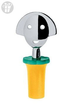 A di Alessi Anna Stop 2 Bottle Stopper, Yellow (*Amazon Partner-Link)