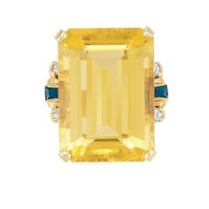 Gold, Citrine, Sapphire and Diamond Ring for Sale at Auction on Wed, 09/29/2010 - 07:00 - Important Estate Jewelry | Doyle Auction House