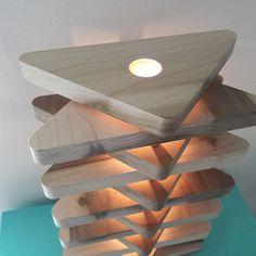 lampe contemporaine / naturel lampe en bois / Bureau lampe /