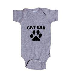 Cat Dad Kitty Kitties Cats Kitten Kittens Father Dads Fathers Feline Felines Pet Pets Animals Animal Lover SGAL5 Baby Onesie / Tee