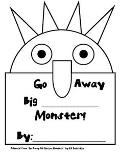 go away big green monster make your own die cut book
