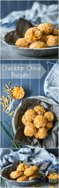Make these cheddar chive biscuits to go with your dinner tonight- they're light as can be, and full of so much cheese-y goodness!