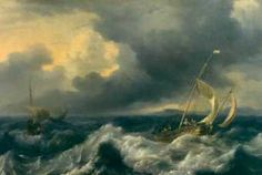 Ludolf Backhuysen Mer houleuse 1662— Inv. 6