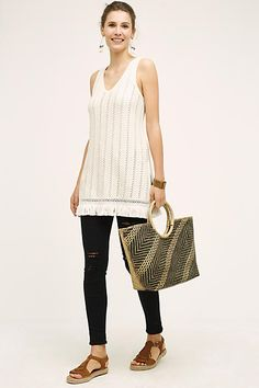 Stitched V-Neck Tunic - anthropologie.com