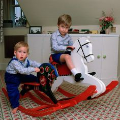 prince harry and prince william at their nursery in Kensington Palace.