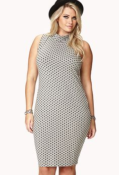Retro Polka Dot Bodycon Dress | FOREVER21 PLUS - 2040496649